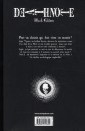 Death note - black edition T.5 - 4ème de couverture - Format classique