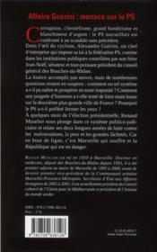 Le système Guérini - 4ème de couverture - Format classique