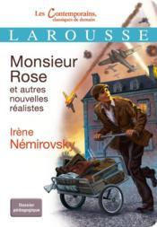 Monsieur Rose et autres nouvelles réalistes - Couverture - Format classique