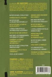 Évolutions - 4ème de couverture - Format classique