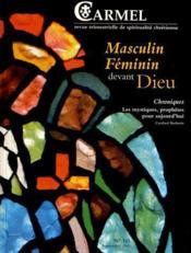 Masculin Feminin Devant Dieu - Couverture - Format classique