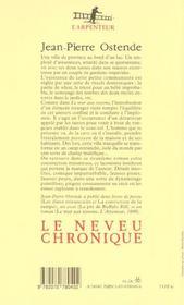 Le Neveu Chronique - 4ème de couverture - Format classique