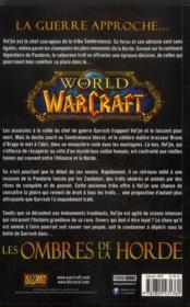 World of warcraft ; Vol'jin, les ombres de la horde - 4ème de couverture - Format classique