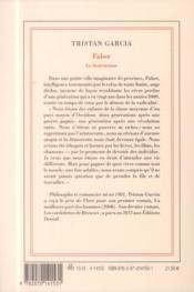 Faber, le destructeur - 4ème de couverture - Format classique