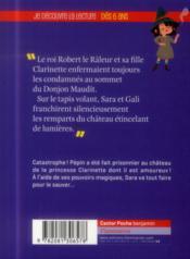 Sara apprentie sorcière t.2 ; prisonnier au château - 4ème de couverture - Format classique