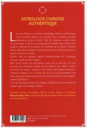 Astrologie chinoise authentique t.1 - 4ème de couverture - Format classique
