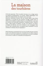 La maison des tourbières - 4ème de couverture - Format classique