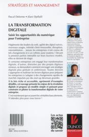 La transformation digitale ; saisir les opportunités du numérique pour l'entreprise - 4ème de couverture - Format classique