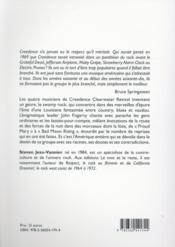 Creedence clearwater revival - 4ème de couverture - Format classique