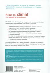 Atlas du climat ; face aux défis du réchauffement - 4ème de couverture - Format classique