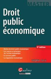 Droit public économique (6e édition) - Couverture - Format classique