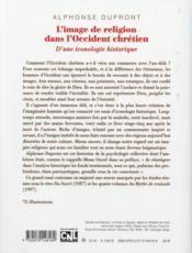 L'image de religion dans l'Occident chrétien - 4ème de couverture - Format classique