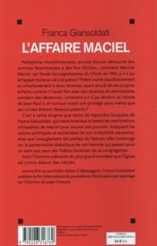 L'affaire Maciel ; le diable au Vatican - 4ème de couverture - Format classique