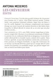 Les Crèvecoeur t.1 ; Edith - 4ème de couverture - Format classique