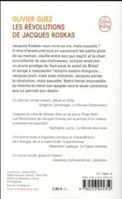 Les révolutions de Jacques Koskas - 4ème de couverture - Format classique