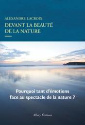 Devant la beauté de la nature - Couverture - Format classique