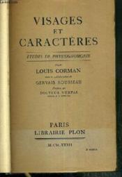 Visages Et Caracteres - Etudes De Physiognonomie - Couverture - Format classique