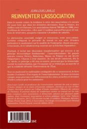 Réinventer l'association ; contre la société du mépris - 4ème de couverture - Format classique