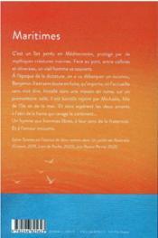 Maritimes - 4ème de couverture - Format classique
