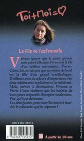 Toi+moi=coeur T.9 ; Le Fils De L'Astronaute - 4ème de couverture - Format classique