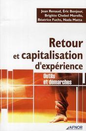 Retour et capitalisation d'experience ; outils et demarches - Intérieur - Format classique