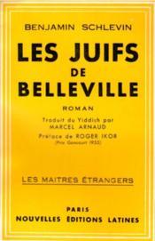 Les Juifs de Belleville - Couverture - Format classique