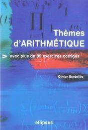 Themes D'Arithmetique Avec Plus De 85 Exercices Corriges - Intérieur - Format classique