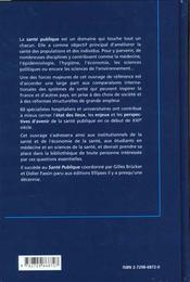 Sante Publique - 4ème de couverture - Format classique