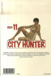 City hunter t.11 - 4ème de couverture - Format classique