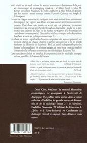 Dechiffrer les grands auteurs de l'economie et de la sociologie - tome 1 - 4ème de couverture - Format classique