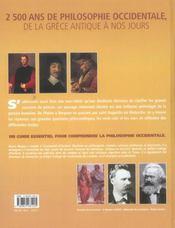 Histoire illustrée de la philosophie de Socrate à nos jours ; 2500 ans de philosophie occidentale - 4ème de couverture - Format classique