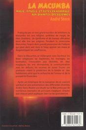 La Macumba ; Magie. Rituels Et Fetes En Hommage Aux Divinites Bresiliennes - 4ème de couverture - Format classique
