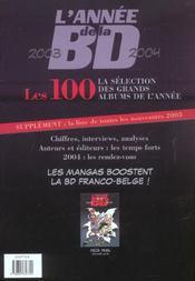 L'Annee De La Bd 2003-2004 - 4ème de couverture - Format classique