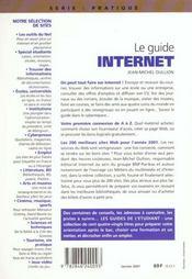 Le guide Internet - 4ème de couverture - Format classique