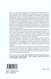 Malaise Dans La Temporalite - 4ème de couverture - Format classique