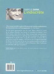 L'indiscrète - 4ème de couverture - Format classique