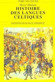 Histoire Des Langues Celtiques - Intérieur - Format classique