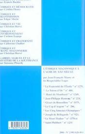 Travaux de la loge n.61 - 4ème de couverture - Format classique