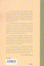 En russie au temps d'elisabeth - memoire sur la russie en 1759 par le chevalier d'eon - 4ème de couverture - Format classique