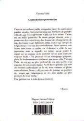 Contradictions personnelles - 4ème de couverture - Format classique