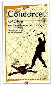 Réflexions sur l'esclavage des nègres - Couverture - Format classique