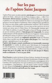 Sur les pas de l'apôtre Saint Jacques en chemin vers Compostelle - 4ème de couverture - Format classique