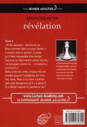 Twilight t.4 ; révélation - Couverture - Format classique