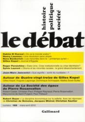 Revue Le Débat N.169 - Couverture - Format classique
