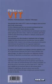 Piloter son VTT - 4ème de couverture - Format classique