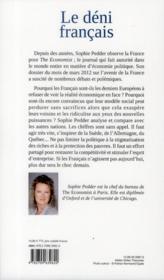 Le déni français ; les derniers enfants gâtés de l'Europe - 4ème de couverture - Format classique