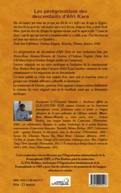 Les pérégrinations des descendants d'Afri Kara - 4ème de couverture - Format classique