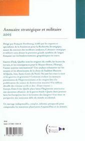 Annuaire strategique et militaire 2003 - 4ème de couverture - Format classique