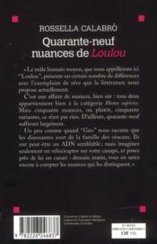 Quarante-neuf nuances de Loulou - 4ème de couverture - Format classique