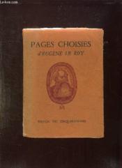 Pages Choisies. Eugene Le Roy Et Son Oeuvre. - Couverture - Format classique